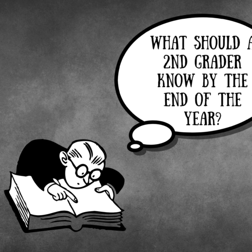 What should a 2nd grader know by the end of the year?