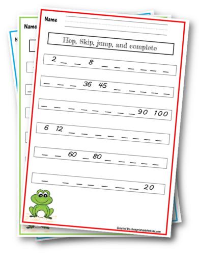 Skip counting Grade 3