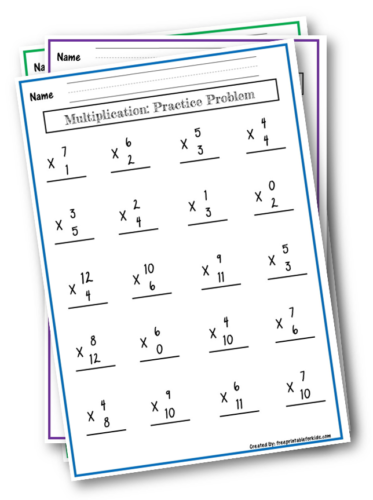 Multiplication practice problem