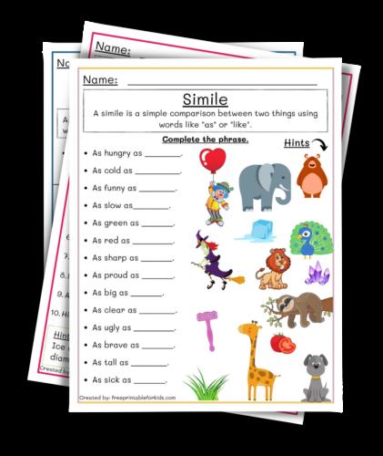 Simile, Third Grade Language art