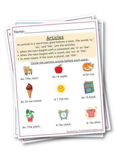 Articles for Third grade