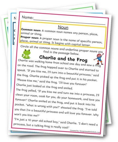 Nouns: Proper and common Third grade