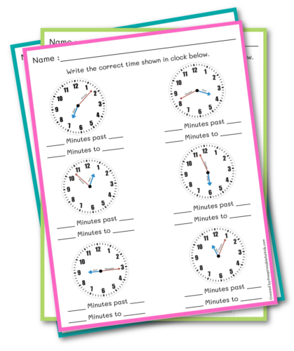 Read the Time for Third Grade