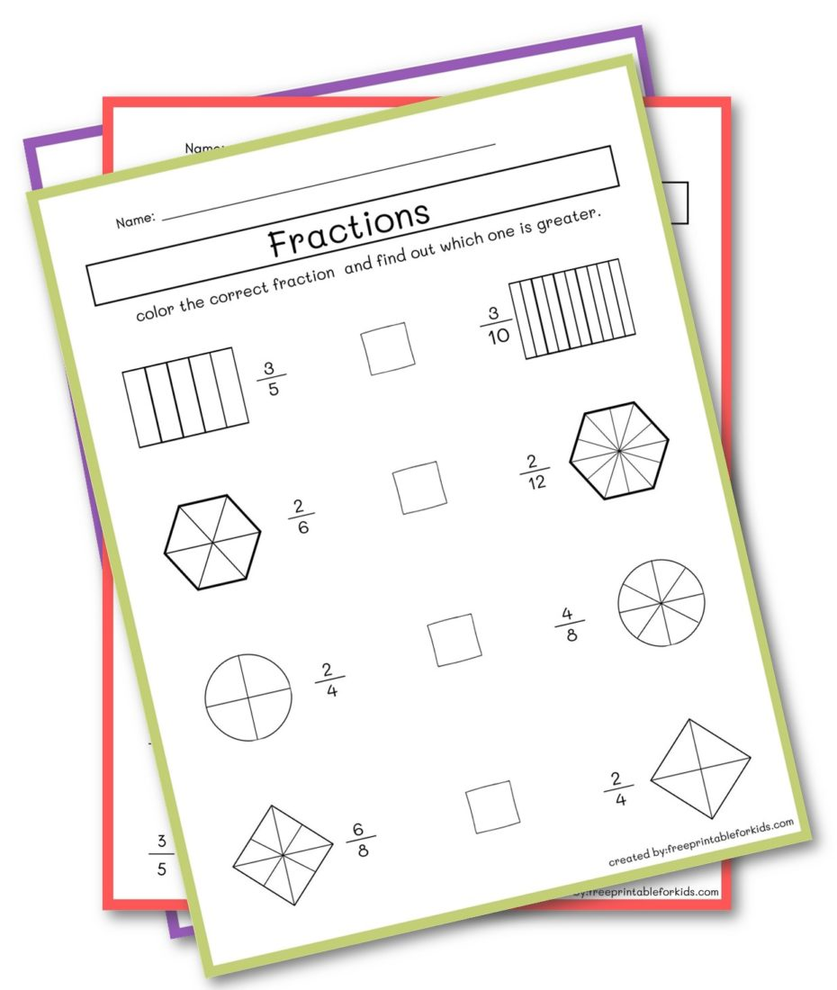 Fraction for Third Grade
