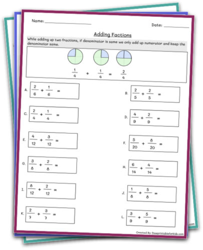 Fractions for Fourth Grade